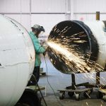 48-inch Pipe Fabrication work in Dunbar's Production Fabrication Facility