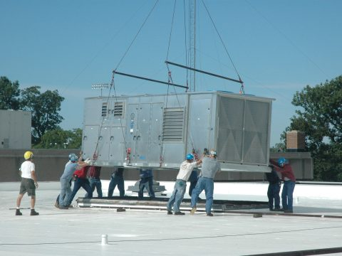 AHU Helicopter Lift
