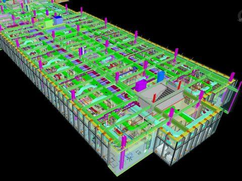 Patient Tower Single Floor Cross Section