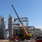 Asphalt Process Plant Steel Erection